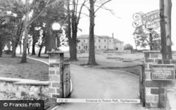The Entrance To Purston Park c.1965, Featherstone