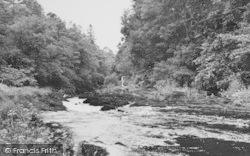 Felindre, River Tivy (Avon Teifi) c.1955