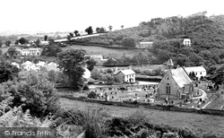 Felindre, The Village And St Barnabas Church c.1960
