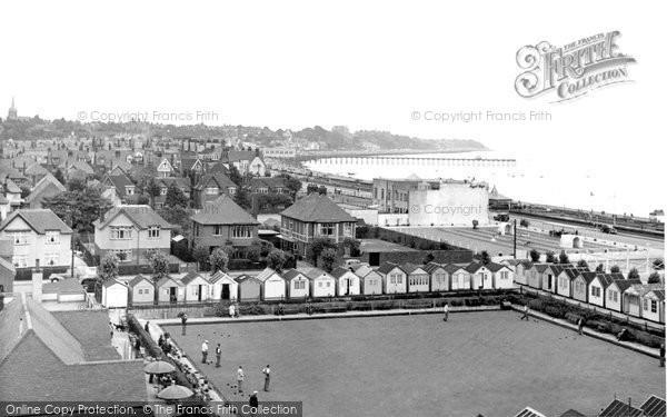 Felixstowe, the Bay looking east c1955