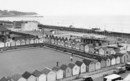 Felixstowe, view from the Big Dipper c1955