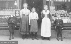 Felling, People At Sisterson's Drug Store c.1900