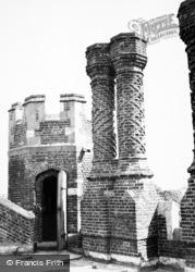 Felsted, Leez Priory Chimneys c.1950