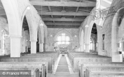 Felton, St Michael's Church, Interior c.1955
