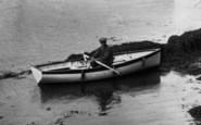 Feock, Boatman On Pill Creek 1936