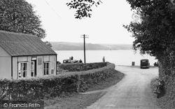 Feock, Road To The Beach c.1955