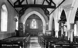Fernhurst, St Margaret's Church Interior 1913