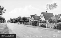 Ferring, Ocean Drive c.1955