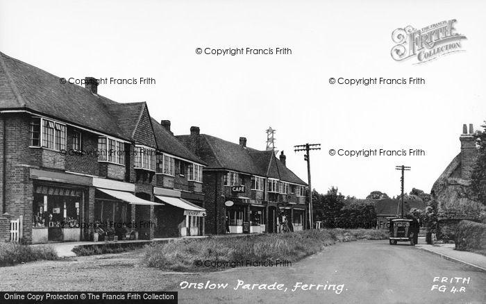 Photo of Ferring, Onslow Parade c.1950