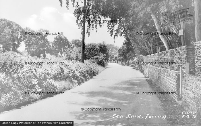 Photo of Ferring, Sea Lane c.1955