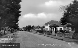 Ferring, South Drive c.1955