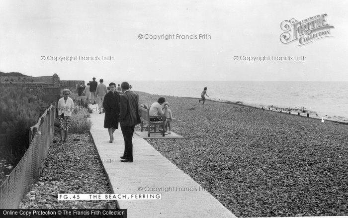 Photo of Ferring, The Beach c.1960