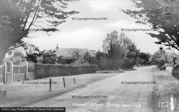Photo of Ferring, Upper West Drive c.1955
