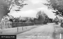 Ferring, Upper West Drive c.1955