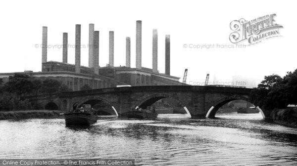 Photo of Ferrybridge, The Bridge And Power Station c.1955