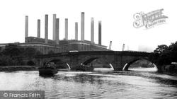 The Bridge And Power Station c.1955, Ferrybridge