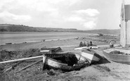 Ferryside, Beach and Lifeboat House 1937