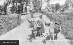 Ferryside, Old Cockle Woman And Donkeys 1925