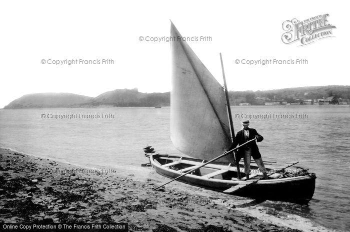 Ferryside, Coast and Boatman 1925
