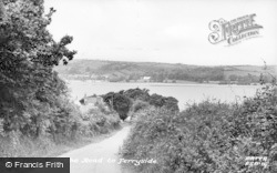 Ferryside, The Road To The Town c.1955