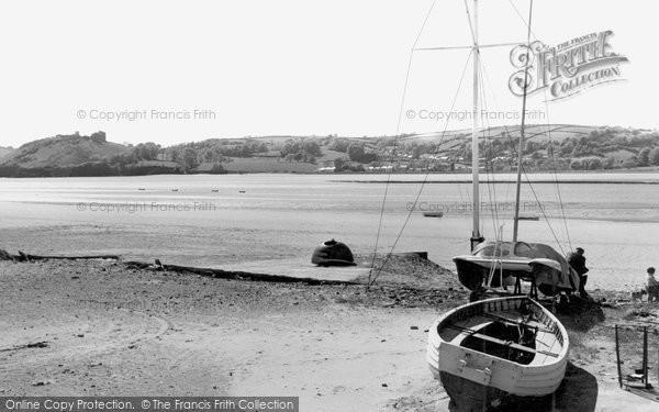 Ferryside, view of Llanstephan c1965