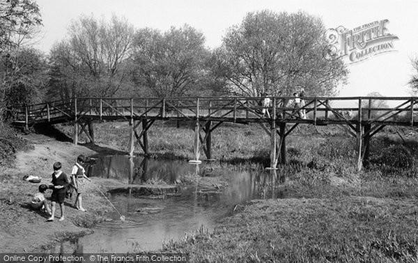 Fetcham, Footbridge over River Mole c1955