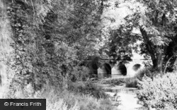 Fetcham, River Mole And Bridge c.1965