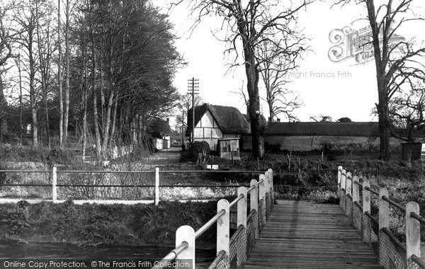 Figheldean, view from the Bridge c1955.  (Neg. F95005)  © Copyright The Francis Frith Collection 2008. http://www.francisfrith.com