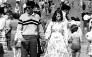 Filey, Couple On The Beach c.1960