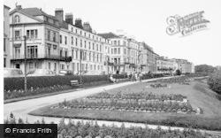 Filey, Crescent Gardens c.1955