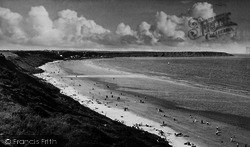 Filey, From The Cliffs, Primrose Valley c.1955