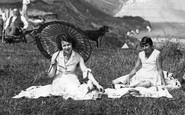 Filey, Ladies With Parasol c.1935