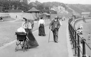 Filey, People On The Promenade 1901