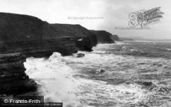 Rough Sea, The Brigg c.1960, Filey