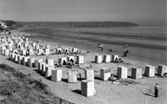 Filey, The Bathing Tents And Beach 1950