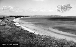Filey, The Bay, From Primrose Valley c.1960