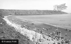 Filey, The Beach c.1955