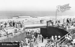 Filey, The Promenade Bridge c.1960