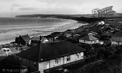 Filey, View From The Cliffs, Primrose Valley c.1955