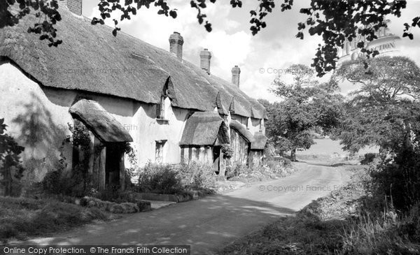 Filleigh, the Almshouses c1960