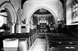 Finchampstead, Church Interior 1910