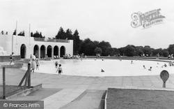 Finchley, Children's Swimming Pool c.1955