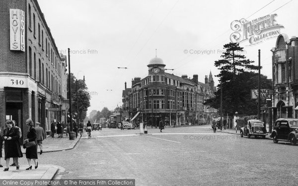 Photo of Finchley, Regents Park Road and Hendon Lane c1955