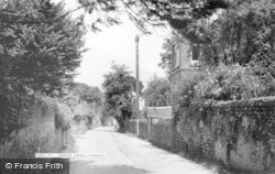 Findon, Cross Lane c.1955