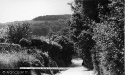 Findon, St John The Baptist's Church From Stable Lane c.1955