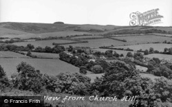 View From Church Hill c.1955, Findon
