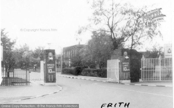 Photo of Finningley, Main Entrance, RAF Camp c.1955