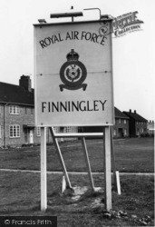 Finningley, The Station Badge, RAF Camp c.1955