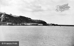 Fishguard, Harbour And Cross Channel Boat c.1950