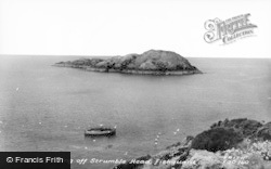 Fishguard, Lobster Fishing Off Strumble Head c.1960